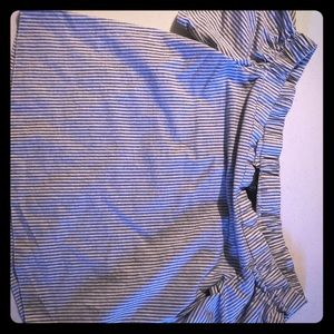 Missguided Blue Striped Off shoulder Top- 4